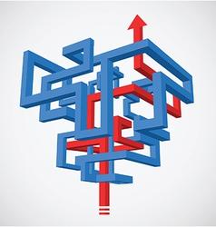 Arrow Infographics Maze vector