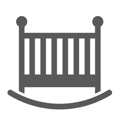 baby crib glyph icon child and bed vector image