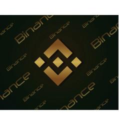 Backgroun blockchain binance design collection vector
