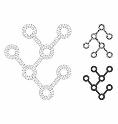 binary tree mesh 2d model and triangle vector image
