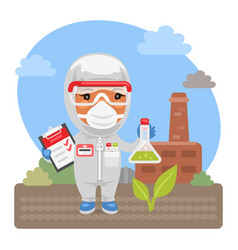 Cartoon environmental scientist vector