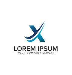 cative modern letter x logo design concept vector image