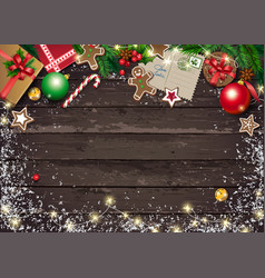 christmas greeting card with letter to santa vector image