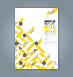 cover annual report 1084 vector image