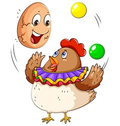 Cracking eggs vector image