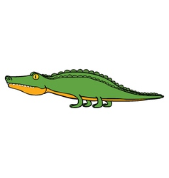 Crocodile cartoon vector image