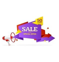 Discount Banner Sticker vector image vector image