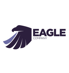 eagle bird or fantasy logo template for security vector image