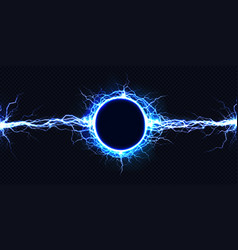Electrical energy discharge 3d light effect vector
