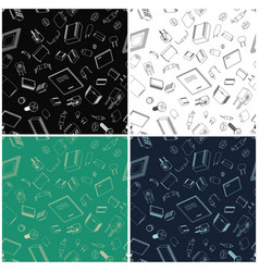Electronic components seamless vector