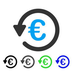 Euro rebate flat icon vector
