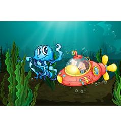 Exploring under sea vector