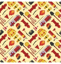 Firefiters pattern vector image