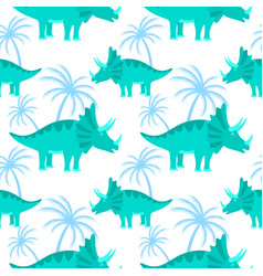 Funny hand drawn dinosaurs seamless pattern for vector