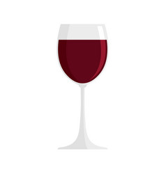 glass of red wine icon flat style vector image