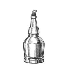 hand drawn screw cap closed bottle of beer vector image