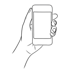 Hand Holding the Smart Phone vector