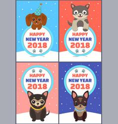 happy new year 2018 congrats vector image