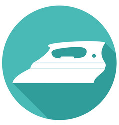 icon steam iron with a long shadow vector image