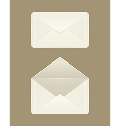 Image a blank open and closed envelopes vector