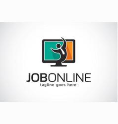 Job online logo template design emblem design vector