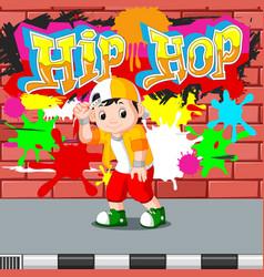 kids dancing hip hop vector image