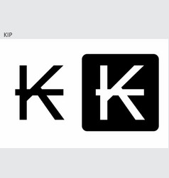 kip currency symbol vector image
