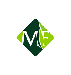 letter mf leaf vector image