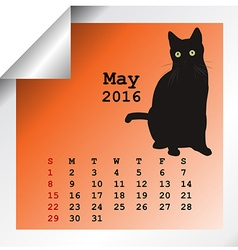 May 2016 Calendar vector image