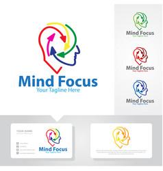 Mind focus logo designs vector