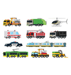 Municipal transport set vector