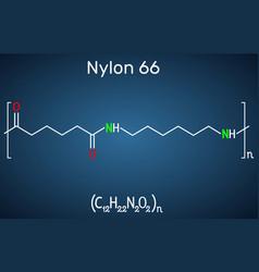 Nylon 66 or nylon molecule it is plastic polymer vector