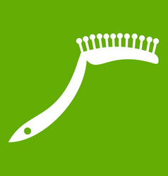 pet comb icon green vector image