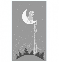 Pony on moon vector