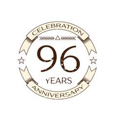 Realistic ninety six years anniversary celebration vector