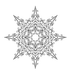 round ornamental graphic design drawing of vector image