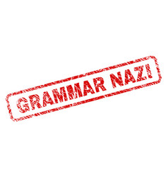 Scratched grammar nazi rounded rectangle stamp vector
