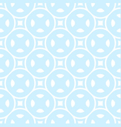 Seamless pattern in white light blue colors vector