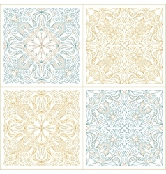 Seamless pattern set with art ornament for vector