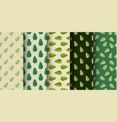 Set seamless pattern with organic doodle vector