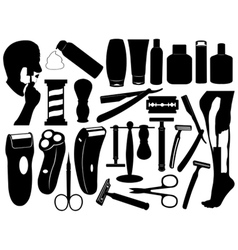 Shaving tools set vector