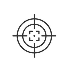 Shooting target icon in flat style aim sniper vector