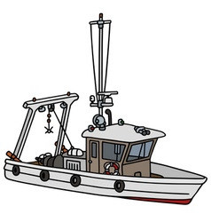 Small fishing boat vector