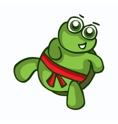 Smiling cartoon turtle vector