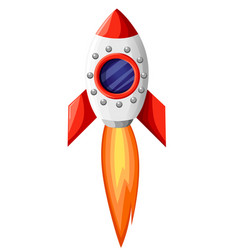 space rocket start up and launch symbol new vector image