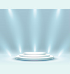 Stage podium with lighting vector