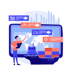 supply chain analytics abstract concept vector image