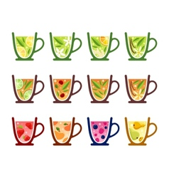 Teacups vector image