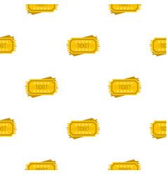 ticket pattern flat vector image