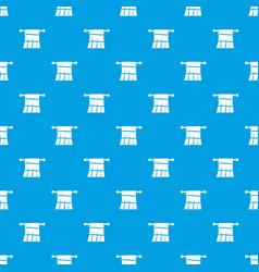Towel on a hanger pattern seamless blue vector